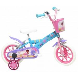 """Vélo enfant fille Docteur La Peluche - 12 pouces (2/4 ans) - Coloris Bleu/Rose/Violet - (""""Distributeur Officiel"""")"""