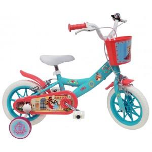 Vélo Elena d'Avalor 12 pouces avec panier et roulettes amovibles