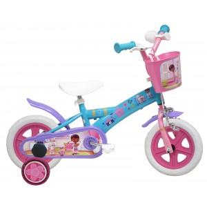 """Vélo enfant fille Docteur La Peluche - 10 pouces (1/3 ans) - Coloris Bleu/Rose/Violet - (""""Distributeur Officiel"""")"""