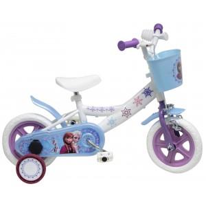 """Vélo enfant fille La Reine Des Neiges (Frozen) - 10 pouces (1/3 ans) - Coloris Bleu/Blanc/Violet - (""""Distributeur Officiel"""")"""