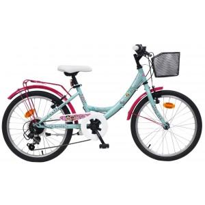 """Vélo fille LOL - 20 pouces 6 vitesses (7/9 ans) - Coloris Bleu/Rose - (""""Distributeur Officiel"""")"""