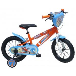 """Vélo enfant garçon PLANES - 14 pouces (3/5 ans) - Coloris Bleu/Rouge - (""""Distributeur Officiel"""")"""
