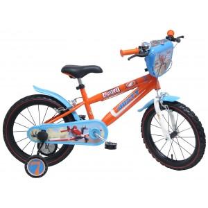 """Vélo enfant garçon PLANES - 16 pouces (5/7 ans) - Coloris Bleu/Rouge - (""""Distributeur Officiel"""")"""