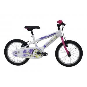 """Vélo fille ROUTE 66 - 16 pouces (5/7 ans) - Coloris Blanc - (""""Distributeur Officiel"""")"""