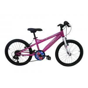 """Vélo ROUTE 66 fille - 20 pouces 6 vitesses (7/9 ans) - Coloris Rose Framboise - (""""Distributeur Officiel"""")"""