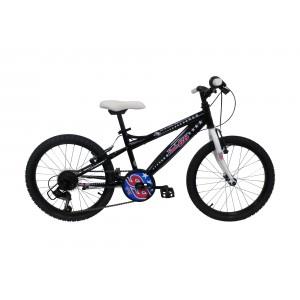 """Vélo ROUTE 66 garçon - 20 pouces 6 vitesses (7/9 ans) - Coloris Noir - (""""Distributeur Officiel"""")"""