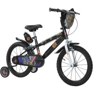 """Vélo enfant garçon STAR WARS REBELS - 16 pouces (Roulements Nylon) - 5/7 ans - Coloris Noir - (""""Distributeur Officiel"""")"""