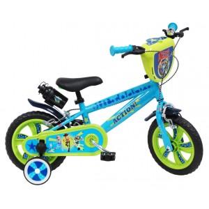 Vélo Toy story 4 12 pouces avec écusson, gourde et roulettes amovibles