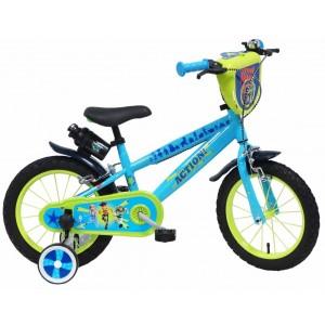 Vélo Toy story 4 14 pouces avec écusson, gourde et roulettes amovibles