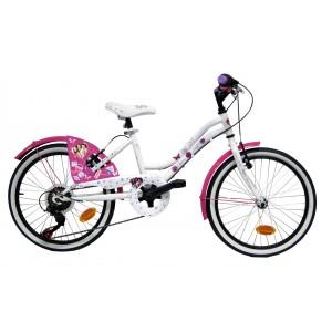 """Vélo enfant fille Violetta - 20 pouces 5 vitesses (7/9 ans) - Coloris Blanc - (""""Distributeur Officiel"""")"""