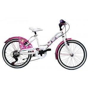 """Vélo enfant fille VIOLETTA - 20 pouces 6 vitesses (7/9 ans) - Coloris Blanc - (""""Distributeur Officiel"""")"""