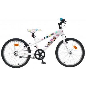 """Vélo VTT enfant fille LOL - 20 pouces (7/9 ans) - Coloris Blanc - (""""Distributeur Officiel"""")"""