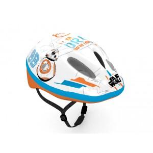"""Casque vélo garçon Star Wars Droid (3/7 ans) - Coloris Blanc, Bleu et Orange - (""""Distributeur Officiel"""")"""
