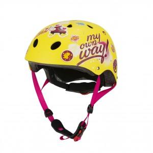 """Casque de vélo fille Soy Luna (6/10 ans) - Coloris Jaune - (""""Distributeur Officiel"""")"""