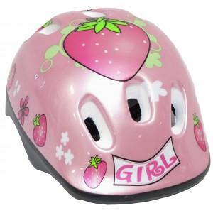 """Casque de vélo rose Girl """"Fraises"""" (4/10 ans) - Coloris Rose - (""""Distributeur Officiel"""")"""