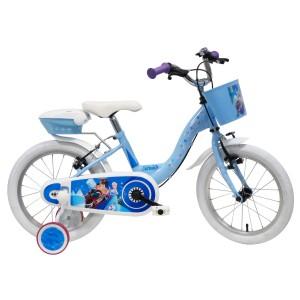 """Vélo évolutif enfant fille La Reine des Neiges (Frozen) - 16 pouces (3/7 ans) - Coloris Bleu - (""""Distributeur Officiel"""")"""