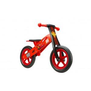 """Draisienne en bois garçon CARS - 12 pouces (2/4 ans) - Coloris Rouge - (""""Distributeur Officiel"""")"""
