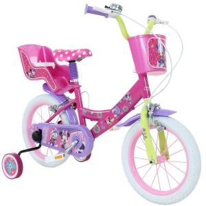 """Vélo enfant fille Minnie - 14 pouces (3/5 ans) - Coloris Rose - (""""Distributeur Officiel"""")"""