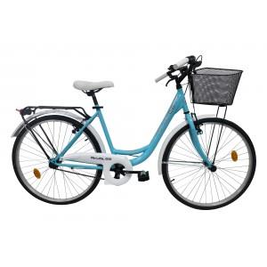 Vélo 26 pouces ROUTE 66 - 6 vitesses - modèle CITY bleu