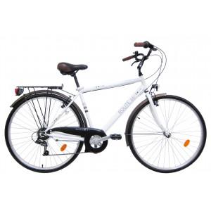 Vélo trekking 28 pouces Route 66 - modèle blanc