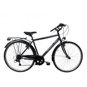Vélo 28 pouces Route 66 - modèle noir acier