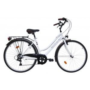 Vélo Femme 28 pouces Route 66 - modèle blanc acier