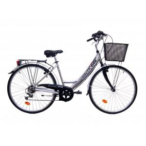 Vélo VTC de qualite Calipso mixte ROUTE 66 - cadre aluminium
