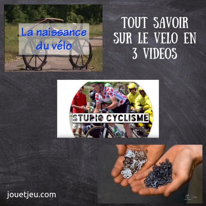 Tout savoir sur le vélo en 3 vidéos !